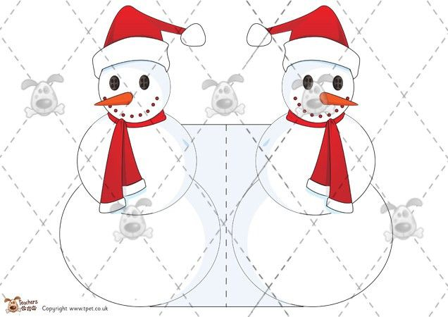 Pet - Snowman Christmas Card Templates - Premium Printable ...