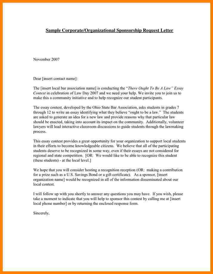How To Write Sponsor Letter, 40+ sponsorship letter \\u0026 ...