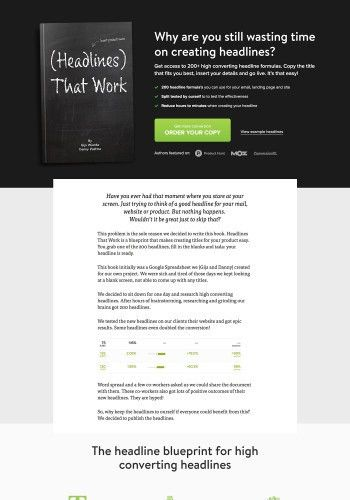 7+ Examples of (E)book Landing Page Designs to inspire you