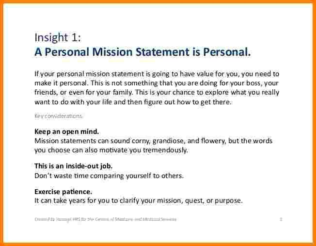 7+ examples of a personal mission statement | Case Statement 2017