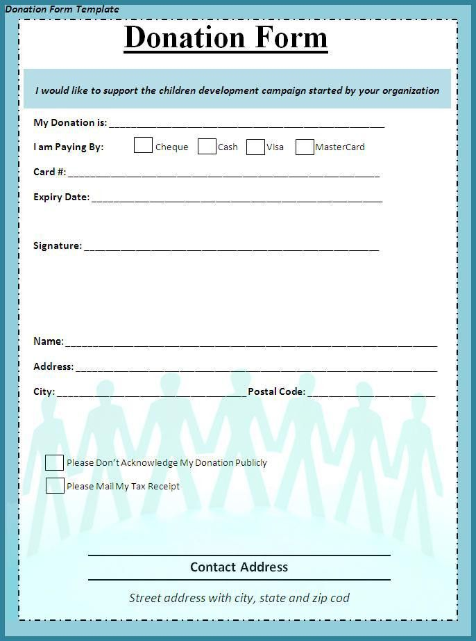 Donation Form Template - Best Word Templates
