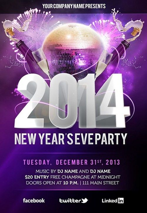For a Great New Year Party – Free Flyer Templates Collection | GT3 ...