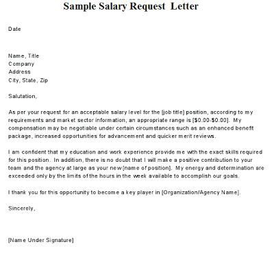 Raise Request Letter Template. request letter format of salary ...