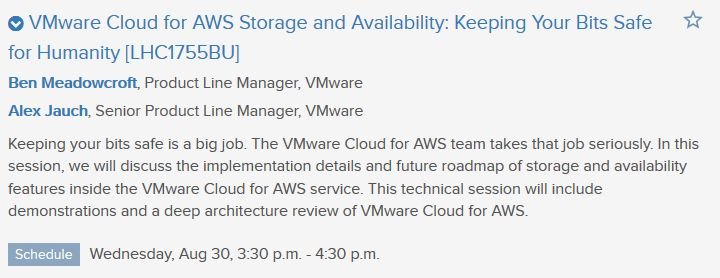 Top 20 Sessions you must see at VMworld 2017 » Welcome to vSphere ...
