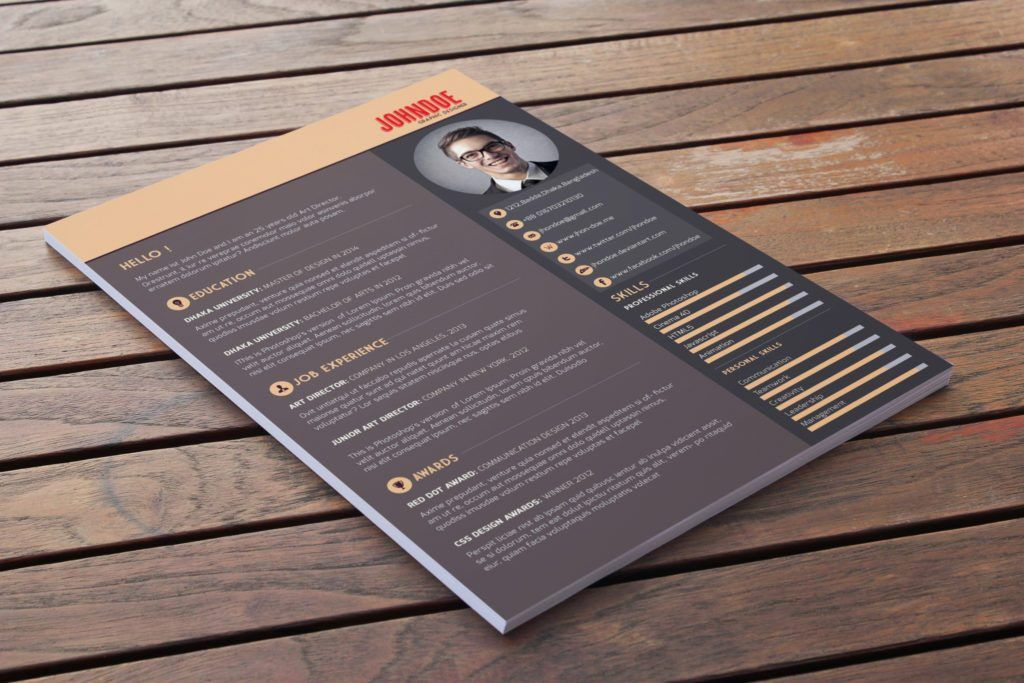 Latest Free Resume PSD Templates – Neo Design