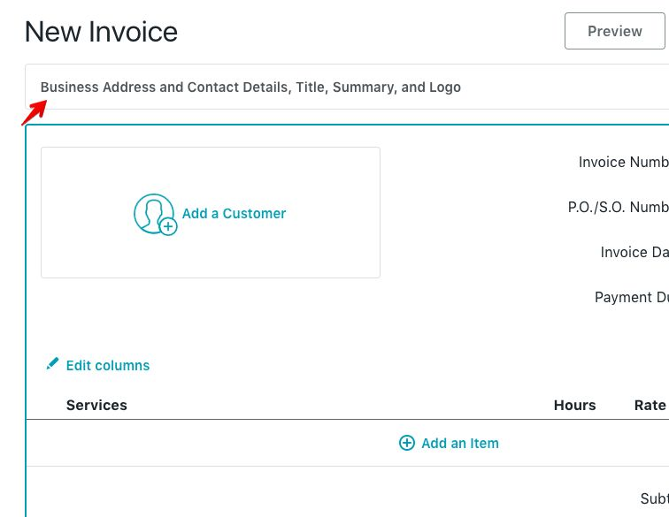 How to create an invoice – Help Center