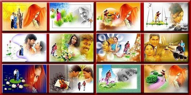 Indian Wedding Album Templates Designs PSD File ( Photo editing ...