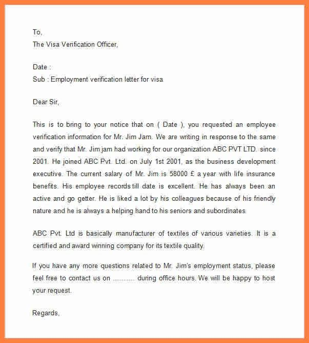 12+ employment verification letter template for visa | Life ...