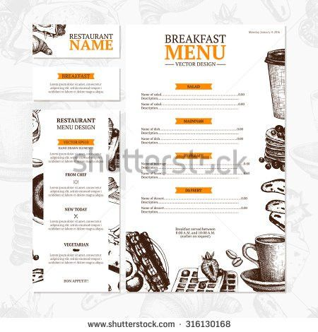 Menu Card Stock Images, Royalty-Free Images & Vectors | Shutterstock