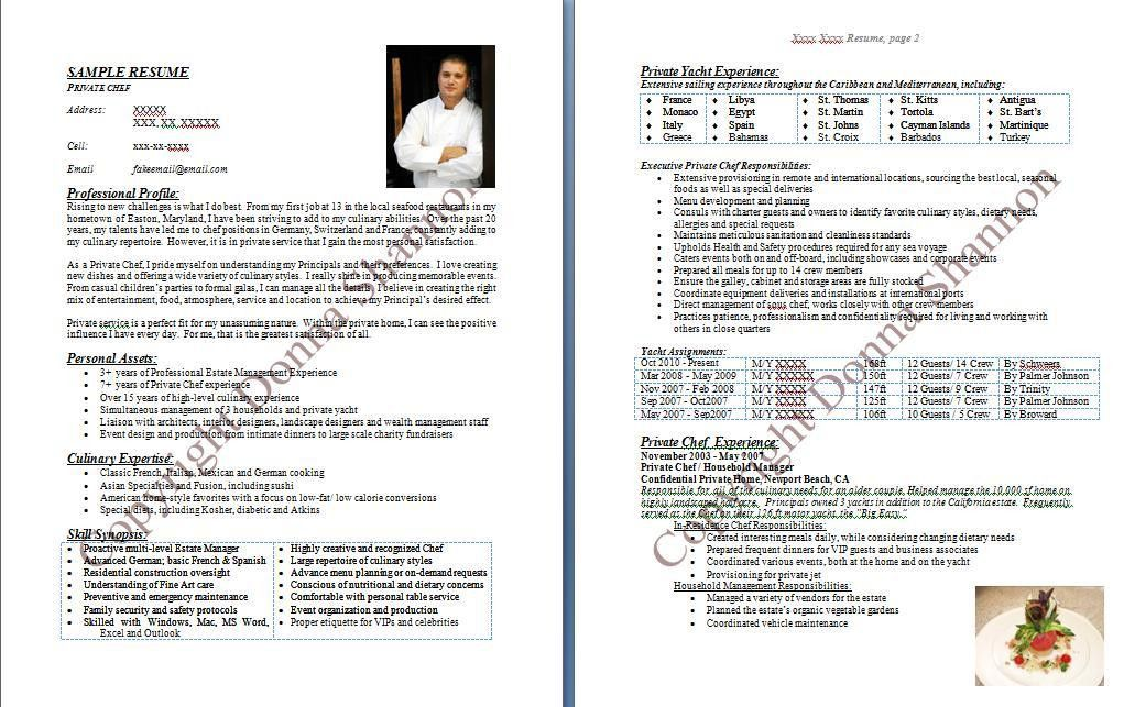 Executive Chef Resume Sample | Free Resumes Tips