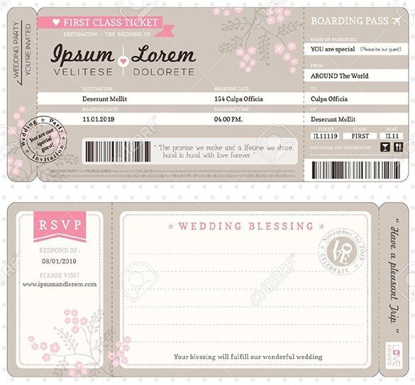 Boarding Pass Invitation Template - 36+ Free PSD Format Download ...