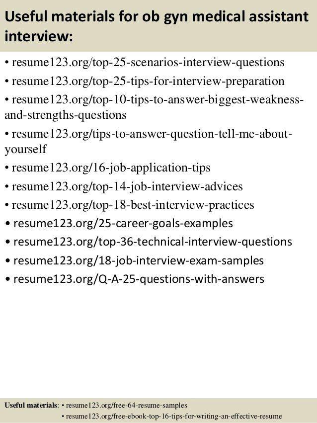 Top 8 ob gyn medical assistant resume samples