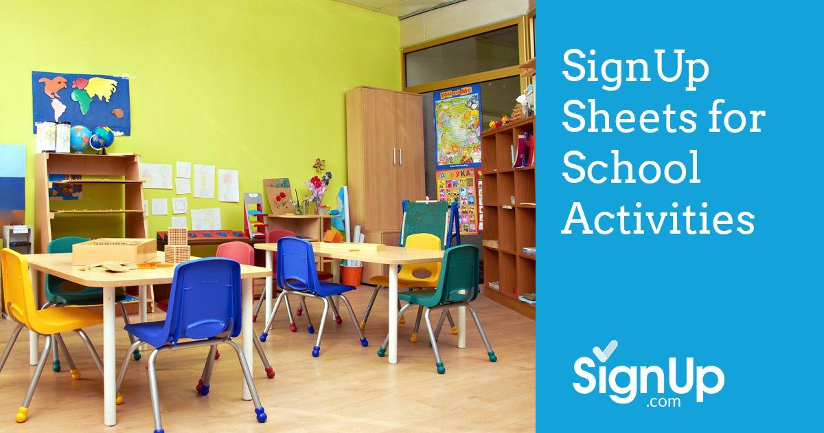 School Activities SignUp Sheets | SignUp.com
