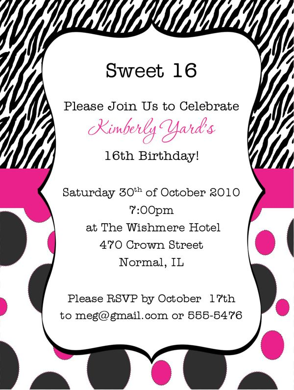 Birthday Party Invitation Wording | badbrya.com