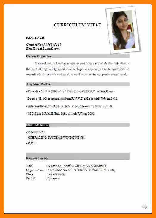 9+ cv format download | acknowledge form