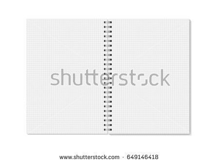 Vector Realistic Opened Notebook Vertical Blank Stock Vector ...