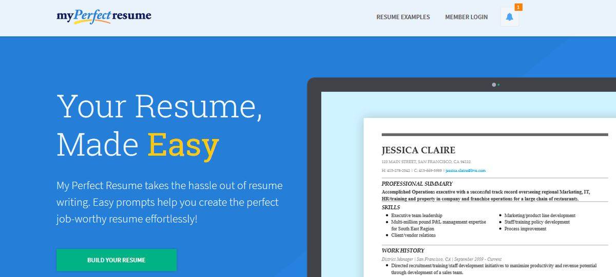 create the perfect resume 10 online tools to create impressive