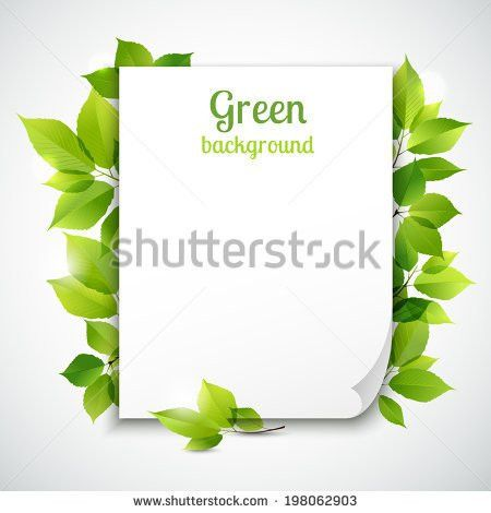 Fresh Spring Green Grass Leaves Frame Stock Vector 192306053 ...