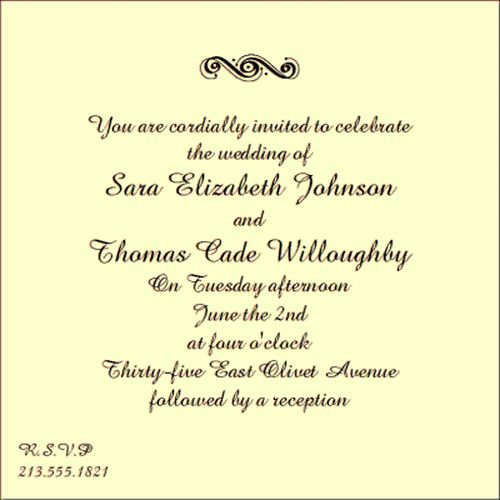 sample invitation wording rules Wedding Invitation Wording | Desi ...