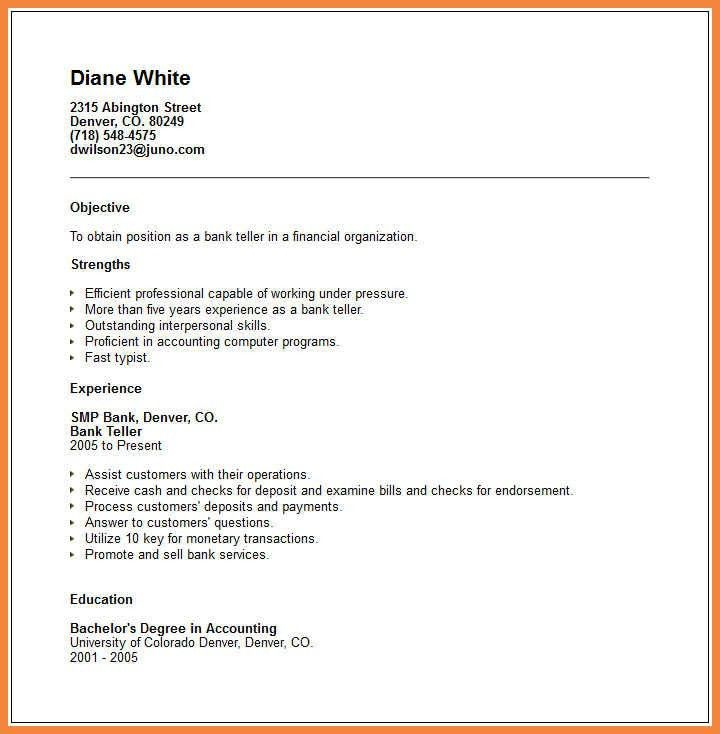 Bank Teller Resume, bank teller resume sample \u0026 writing tips ...