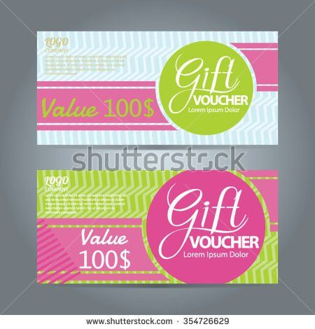 Voucher Templategift Certificatecoupon Designticket Layout Stock ...