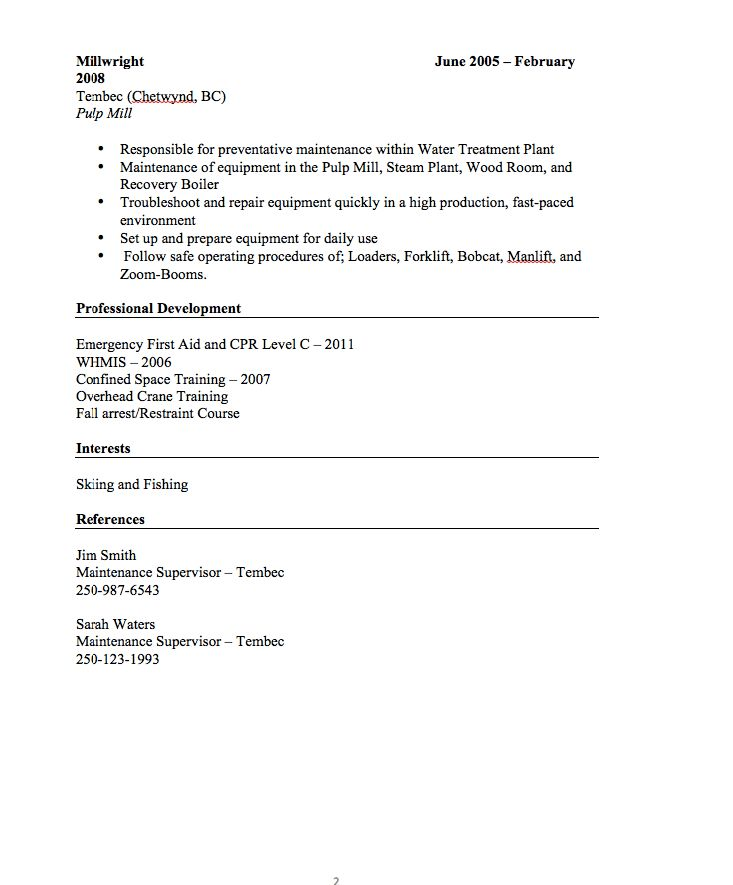 19+ [ Chronological Resume Sample Format ] | Resume Example For An ...