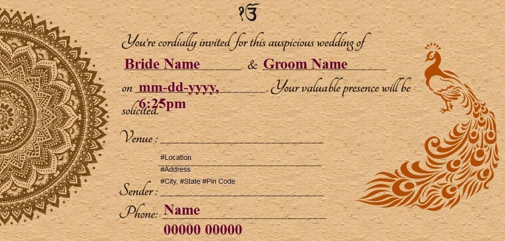 Free Wedding-India Invitation Card & Online Invitations