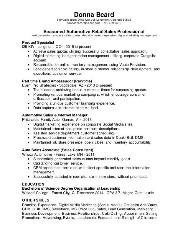 Donna Beard - DDS Digital Solutions Manager Resume