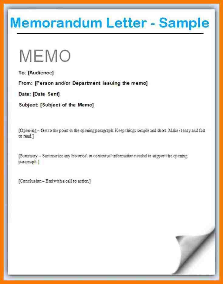 Sample Interoffice Memo. Memorandum-Letter-Example-Letter-Of ...