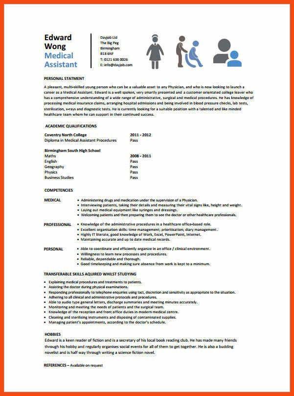 certified medical assistant resume | program format