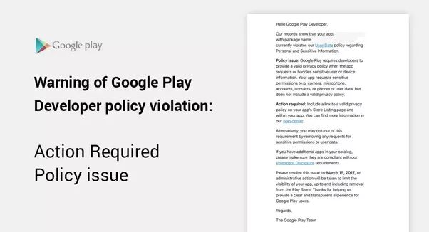 2 answers: How to get rid of the Google play store privacy policy ...