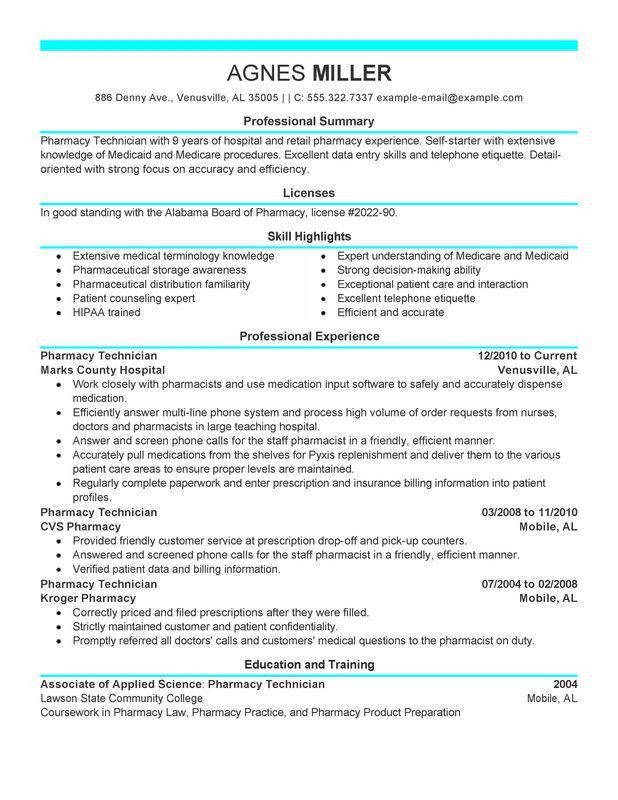 Professional Pharmacy Technician Templates to Showcase Your Talent ...