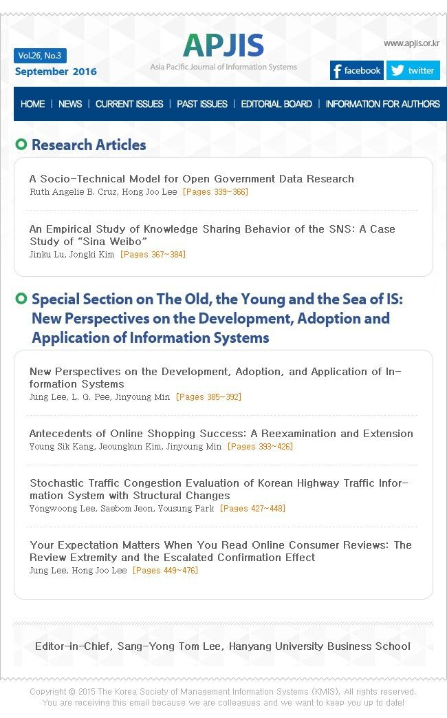 Asia Pacific Journal of Information Systems (APJIS)