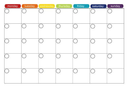 Monthly Calendar Planner Template | monthly calendar printable