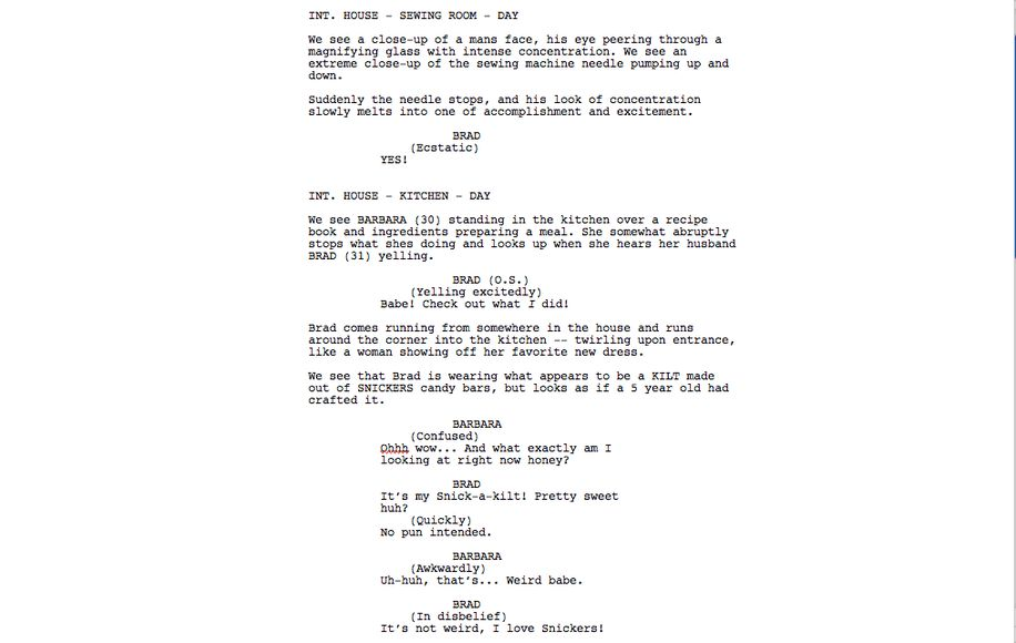 Movie script writing template - Research paper Academic Service