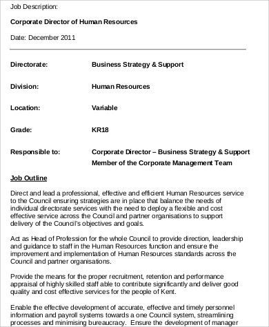 Human Resources Director Job Description. Hr Manager Resume Human ...
