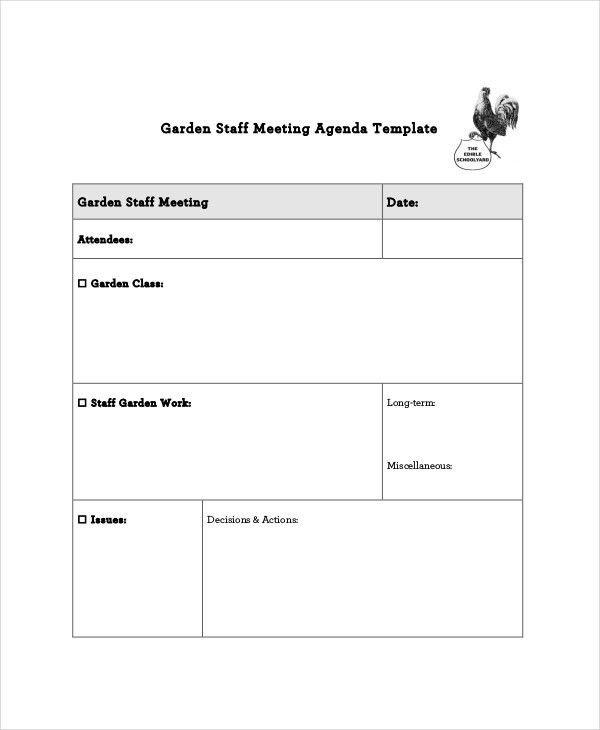 Staff Meeting Agenda Template – 10+ Free Word, PDF Documents ...