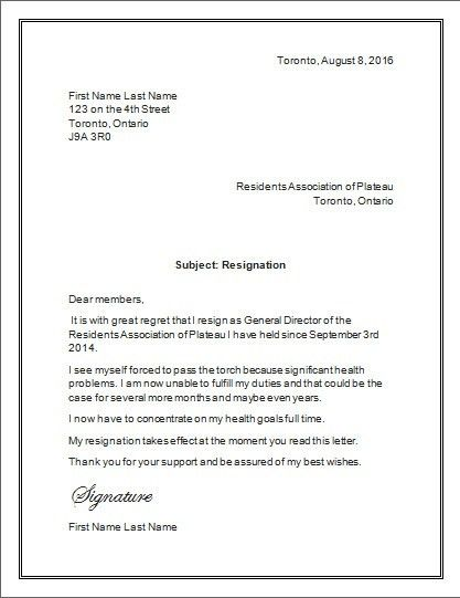 Resignation Letter Format Ms Word | Docoments Ojazlink