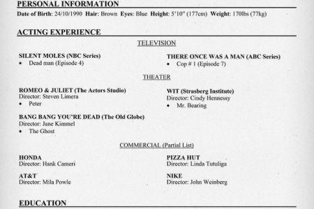 theater resume examples headshot resume sarah elizabeth powell ...