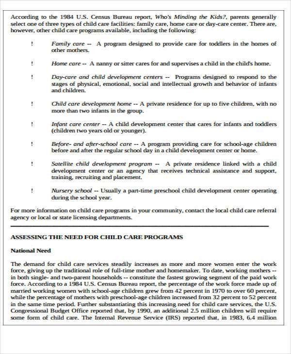 5+ Child Care Plan Templates - Free Word, PDF Format Download ...