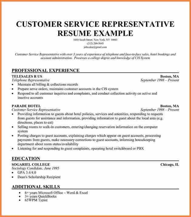 4+ customer service representative resume template | Resume Template