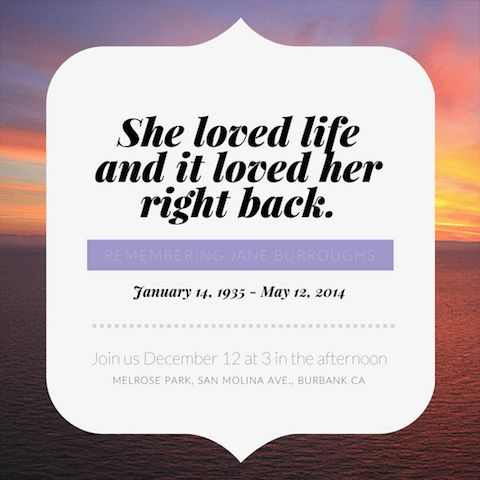 40+ Celebration of Life Ideas - Canva