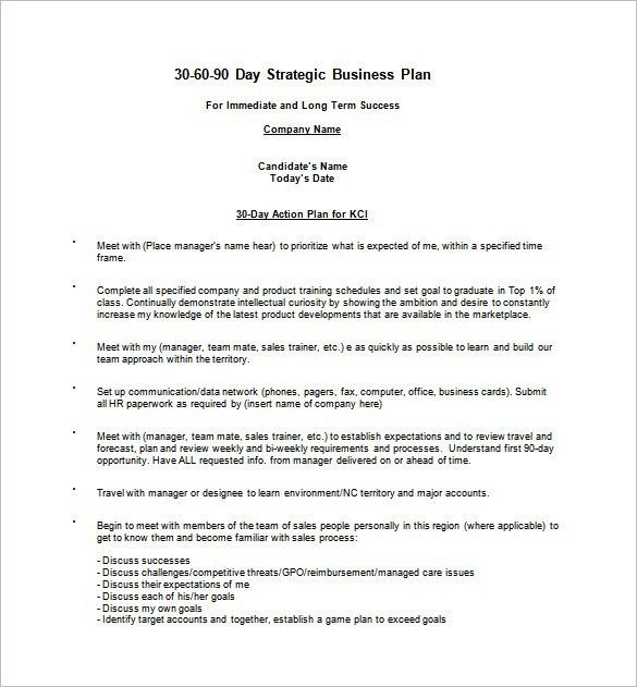 30 60 90 Day Sales Plan Template Examples | Best Example Of ...