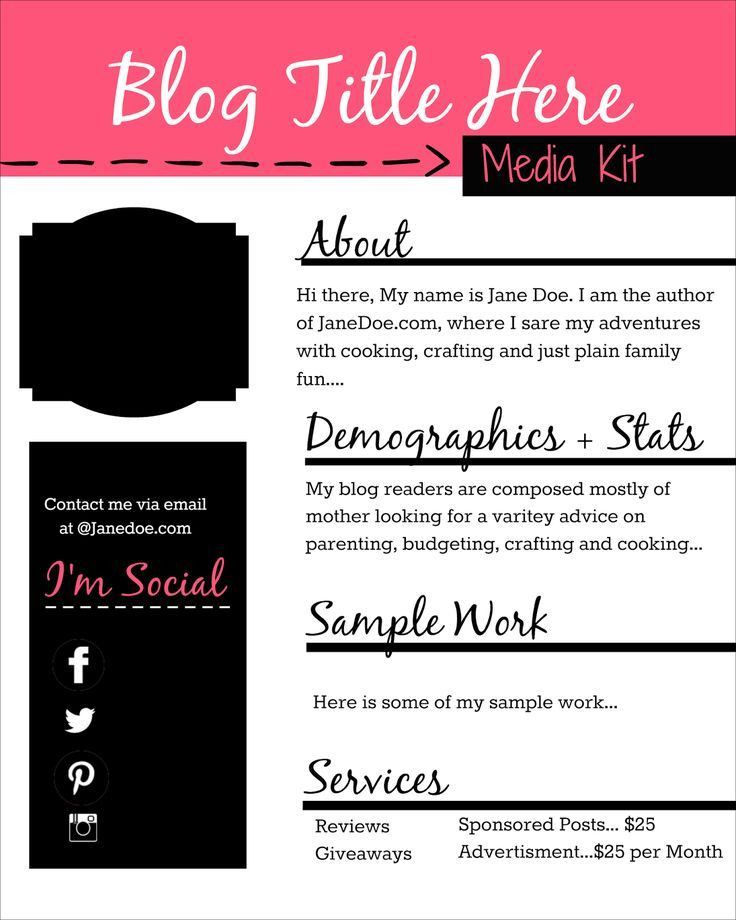84 best Media Kits! images on Pinterest | A medium, Blog tips and ...