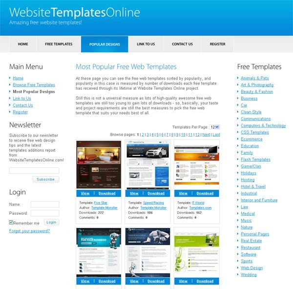 30 Sites That Offer Free Website Templates and Free Flash ...