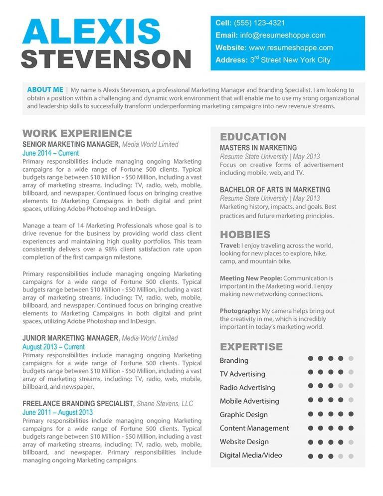 Creative Resume Templates For Mac. Creative Resume Template For ...