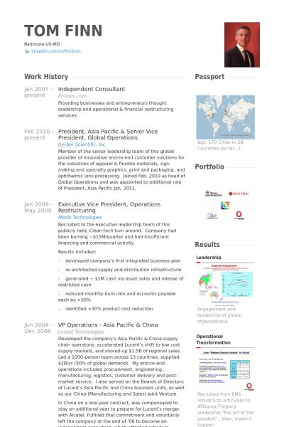 Independent Consultant Resume samples - VisualCV resume samples ...