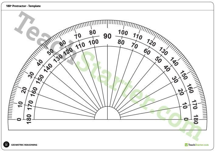 180 and 360 Degree Protractor Templates Teaching Resource – Teach ...