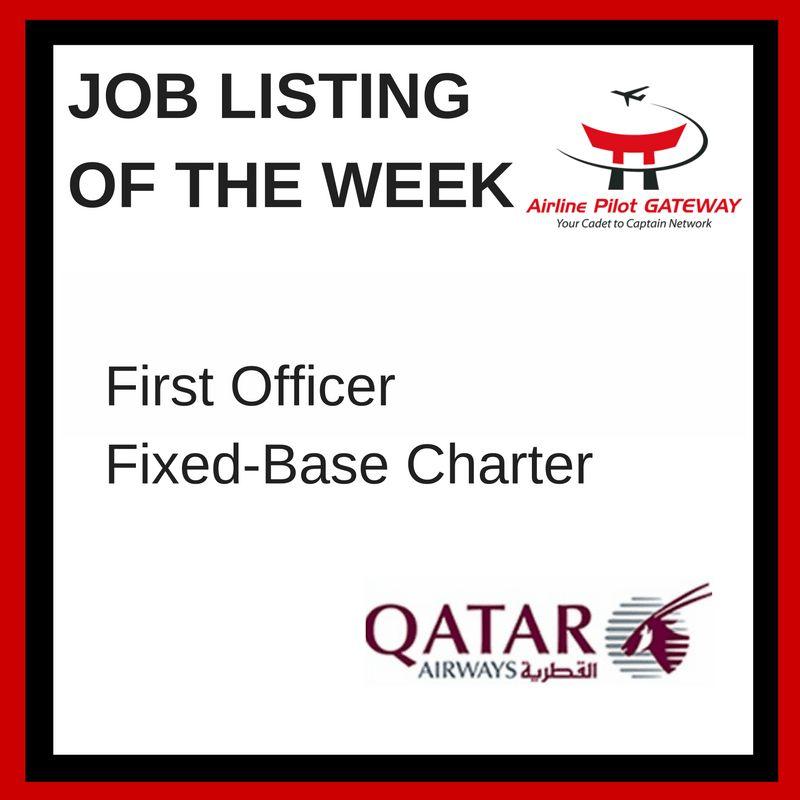 Job of the Week - Charter First Officer, Qatar Airways