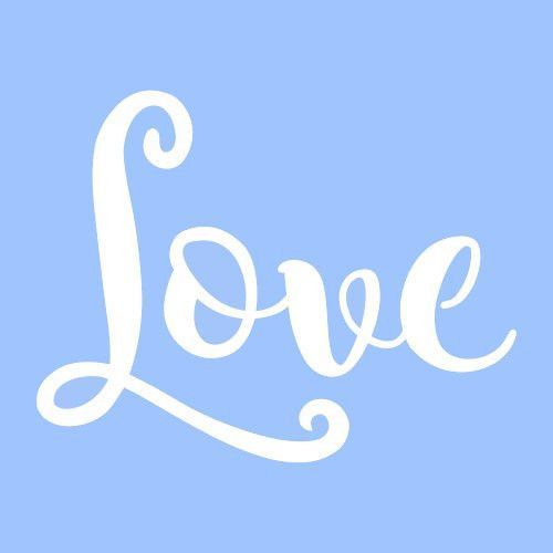 "7"" LOVE STENCIL STENCILS template templates craft word words paint ..."